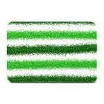 Metallic Green Glitter Stripes Plate Mats 18 x12 Plate Mat - 1