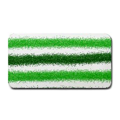 Metallic Green Glitter Stripes Medium Bar Mats