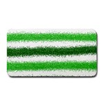 Metallic Green Glitter Stripes Medium Bar Mats 16 x8.5 Bar Mat - 1