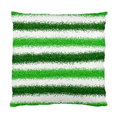 Metallic Green Glitter Stripes Standard Cushion Case (Two Sides)