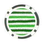 Metallic Green Glitter Stripes Poker Chip Card Guards (10 pack)  Back