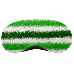 Metallic Green Glitter Stripes Sleeping Masks