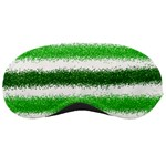 Metallic Green Glitter Stripes Sleeping Masks Front