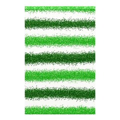 Metallic Green Glitter Stripes Shower Curtain 48  x 72  (Small)