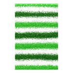 Metallic Green Glitter Stripes Shower Curtain 48  x 72  (Small)  48 x72 Curtain