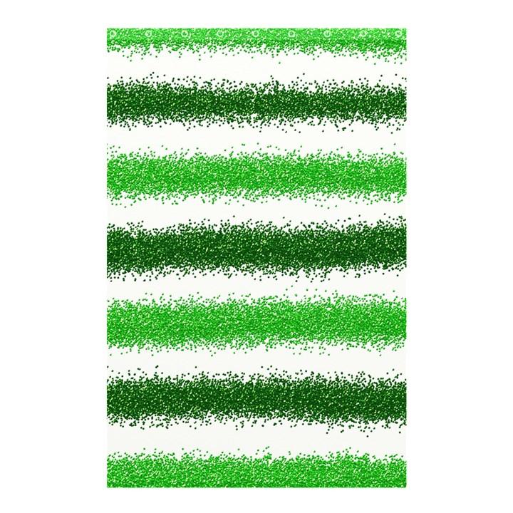 Metallic Green Glitter Stripes Shower Curtain 48  x 72  (Small)
