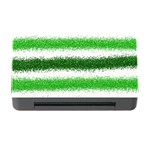 Metallic Green Glitter Stripes Memory Card Reader with CF Front