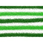Metallic Green Glitter Stripes LOVE 3D Greeting Card (7x5) Back