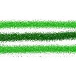 Metallic Green Glitter Stripes Twin Heart Bottom 3D Greeting Card (8x4) Back