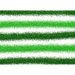 Metallic Green Glitter Stripes Circle Bottom 3D Greeting Card (7x5) Back