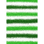 Metallic Green Glitter Stripes Apple 3D Greeting Card (7x5) Inside