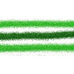Metallic Green Glitter Stripes BELIEVE 3D Greeting Card (8x4) Front