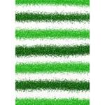 Metallic Green Glitter Stripes WORK HARD 3D Greeting Card (7x5) Inside