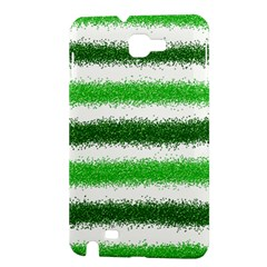 Metallic Green Glitter Stripes Samsung Galaxy Note 1 Hardshell Case
