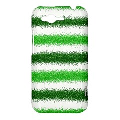 Metallic Green Glitter Stripes HTC Rhyme