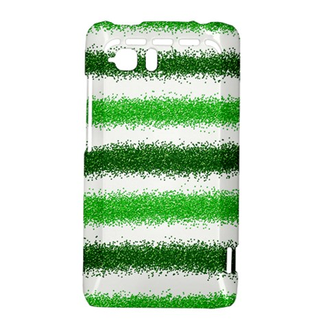 Metallic Green Glitter Stripes HTC Vivid / Raider 4G Hardshell Case