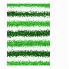Metallic Green Glitter Stripes Small Garden Flag (Two Sides)