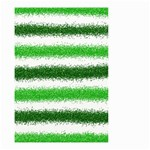 Metallic Green Glitter Stripes Small Garden Flag (Two Sides) Front