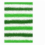 Metallic Green Glitter Stripes Large Garden Flag (Two Sides) Front