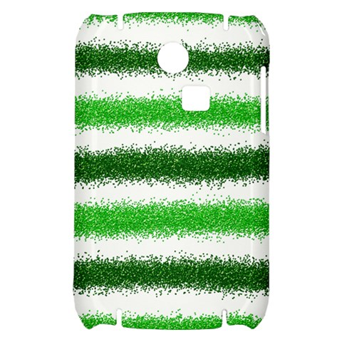 Metallic Green Glitter Stripes Samsung S3350 Hardshell Case