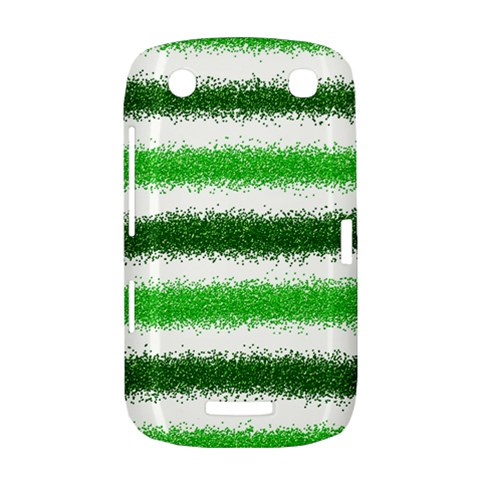 Metallic Green Glitter Stripes BlackBerry Curve 9380