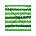 Metallic Green Glitter Stripes Acrylic Tangram Puzzle (4  x 4 ) Front