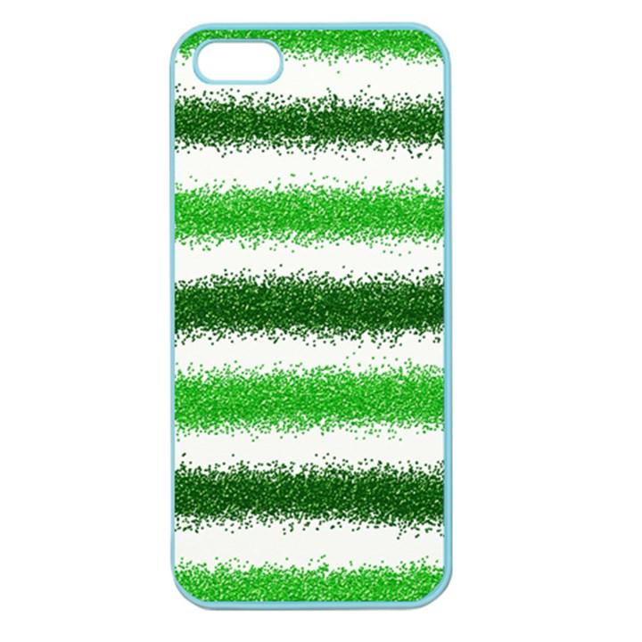 Metallic Green Glitter Stripes Apple Seamless iPhone 5 Case (Color)