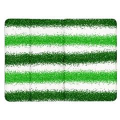 Metallic Green Glitter Stripes Kindle Fire (1st Gen) Flip Case
