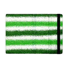 Metallic Green Glitter Stripes Apple iPad Mini Flip Case