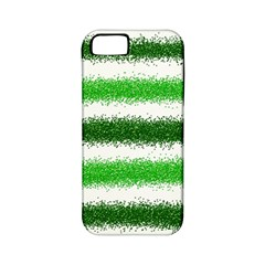 Metallic Green Glitter Stripes Apple iPhone 5 Classic Hardshell Case (PC+Silicone)
