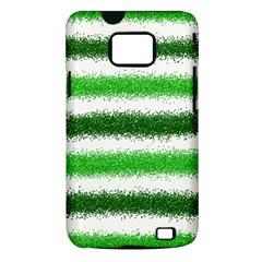 Metallic Green Glitter Stripes Samsung Galaxy S II i9100 Hardshell Case (PC+Silicone)