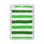 Metallic Green Glitter Stripes iPad Mini 2 Enamel Coated Cases Front