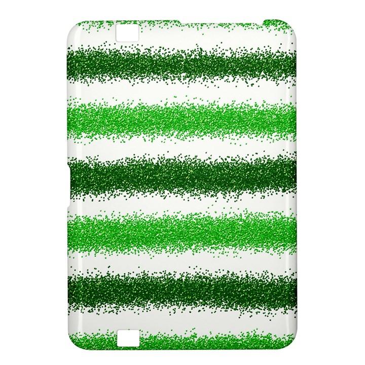 Metallic Green Glitter Stripes Kindle Fire HD 8.9