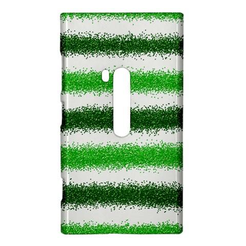 Metallic Green Glitter Stripes Nokia Lumia 920