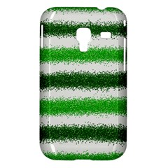 Metallic Green Glitter Stripes Samsung Galaxy Ace Plus S7500 Hardshell Case