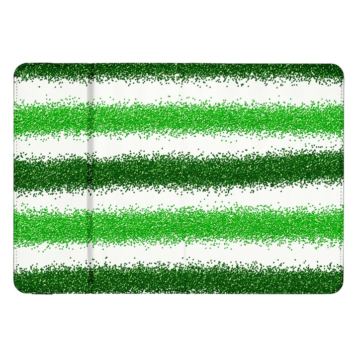 Metallic Green Glitter Stripes Samsung Galaxy Tab 8.9  P7300 Flip Case