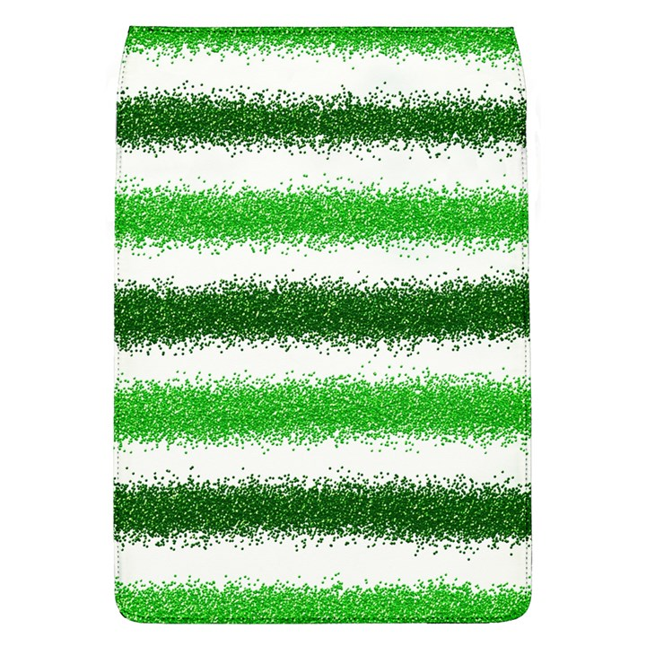 Metallic Green Glitter Stripes Flap Covers (L)