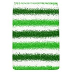 Metallic Green Glitter Stripes Flap Covers (S)  Front