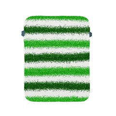 Metallic Green Glitter Stripes Apple iPad 2/3/4 Protective Soft Cases