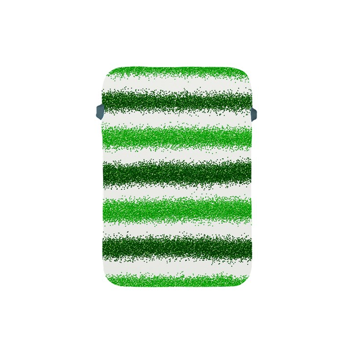 Metallic Green Glitter Stripes Apple iPad Mini Protective Soft Cases