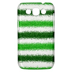 Metallic Green Glitter Stripes Samsung Galaxy Win I8550 Hardshell Case