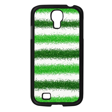 Metallic Green Glitter Stripes Samsung Galaxy S4 I9500/ I9505 Case (Black)
