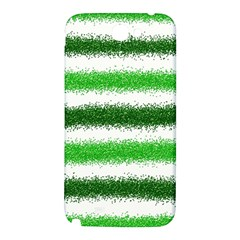 Metallic Green Glitter Stripes Samsung Note 2 N7100 Hardshell Back Case
