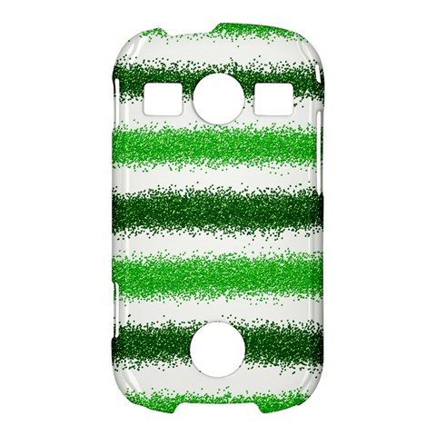 Metallic Green Glitter Stripes Samsung Galaxy S7710 Xcover 2 Hardshell Case