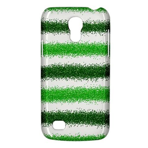 Metallic Green Glitter Stripes Galaxy S4 Mini