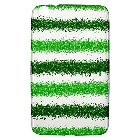 Metallic Green Glitter Stripes Samsung Galaxy Tab 3 (8 ) T3100 Hardshell Case