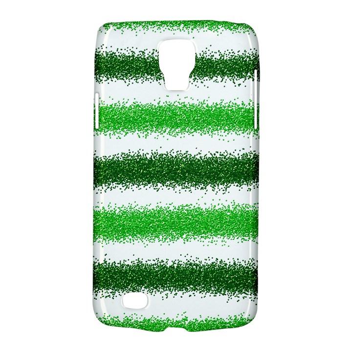 Metallic Green Glitter Stripes Galaxy S4 Active