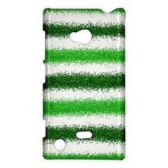 Metallic Green Glitter Stripes Nokia Lumia 720