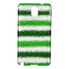 Metallic Green Glitter Stripes Samsung Galaxy Note 3 N9005 Hardshell Case
