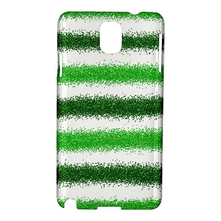 Metallic Green Glitter Stripes Samsung Galaxy Note 3 N9005 Hardshell Case